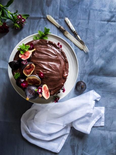 cake above